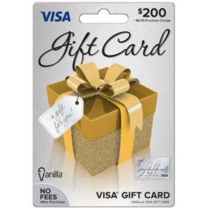 200 Visa Gift Card